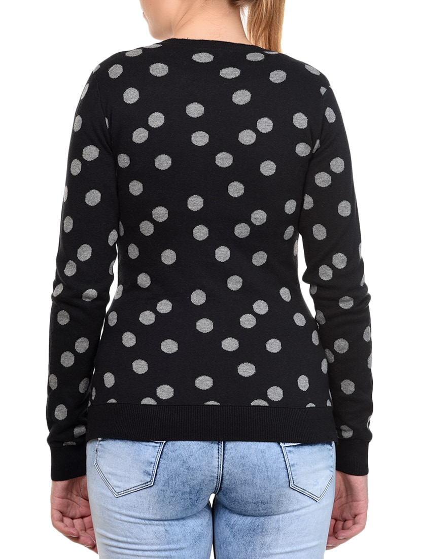 Buy online Black Cotton Cardigan from Cardigans & Pullovers